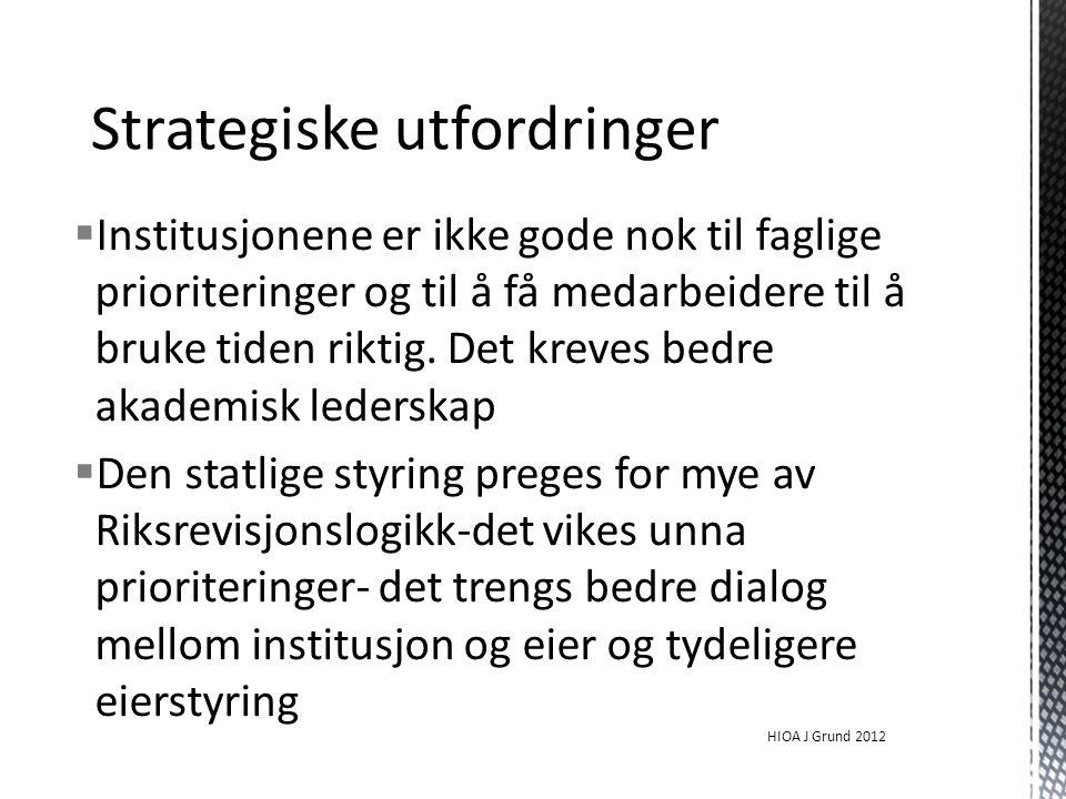 Strategiske utfordringer