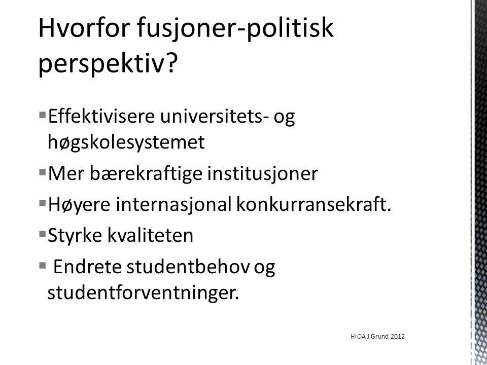 Hvorfor fusjoner-politisk perspektiv