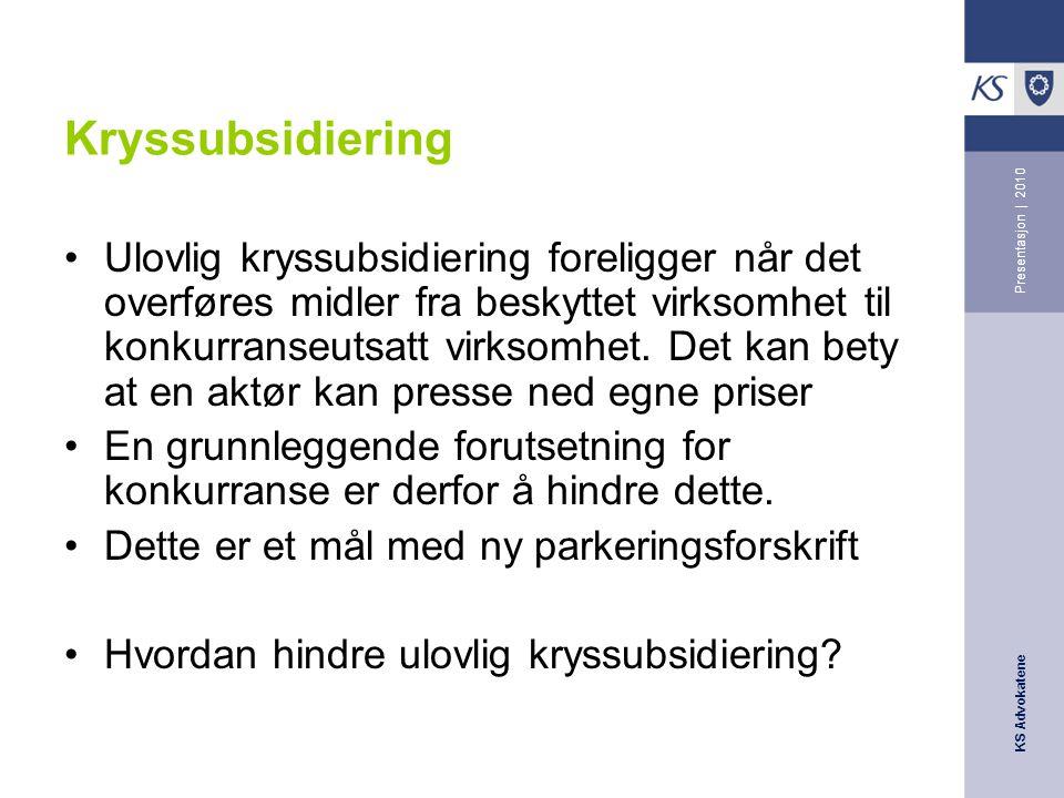 Kryssubsidiering Presentasjon | 2010.