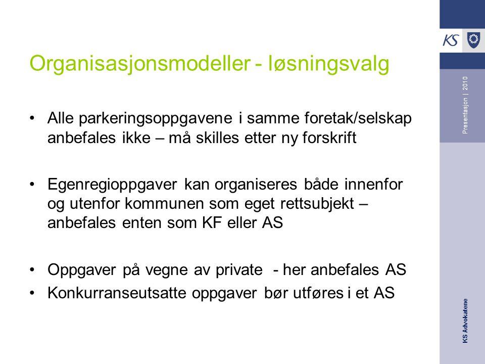 Organisasjonsmodeller - løsningsvalg