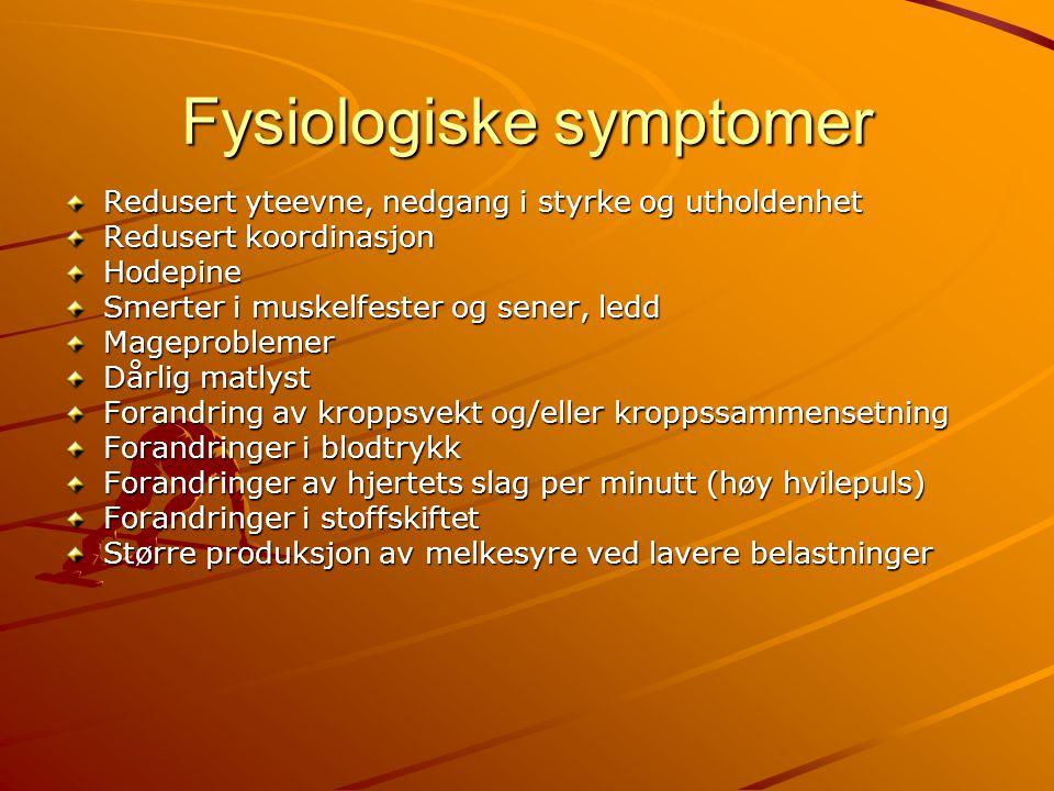 Fysiologiske symptomer