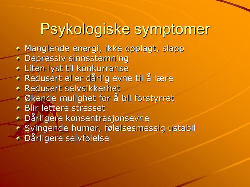 Psykologiske symptomer