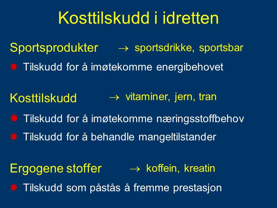 Kosttilskudd i idretten