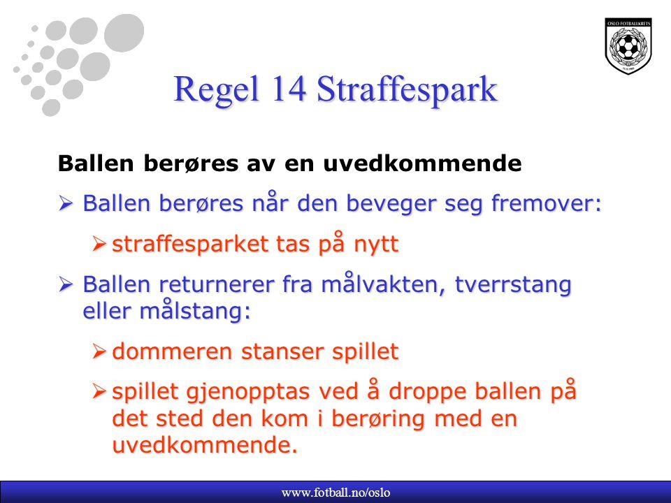 Regel 14 Straffespark Ballen berøres av en uvedkommende