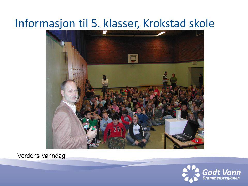 Informasjon til 5. klasser, Krokstad skole