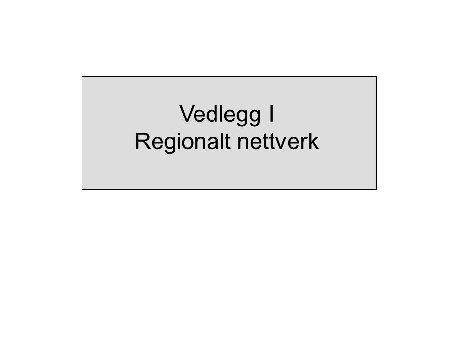Vedlegg I Regionalt nettverk