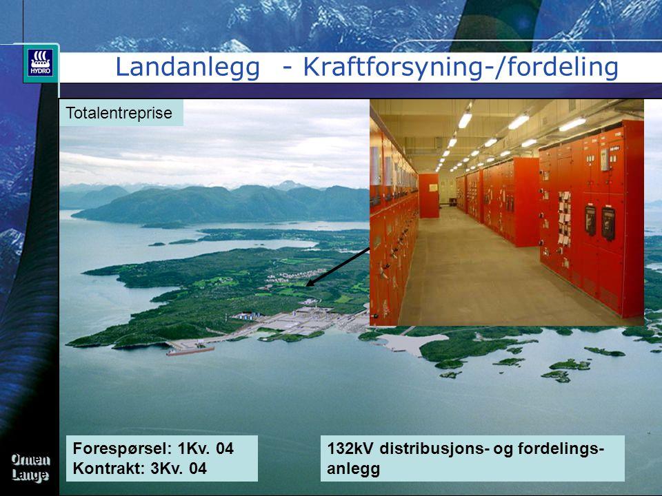 Landanlegg - Kraftforsyning-/fordeling