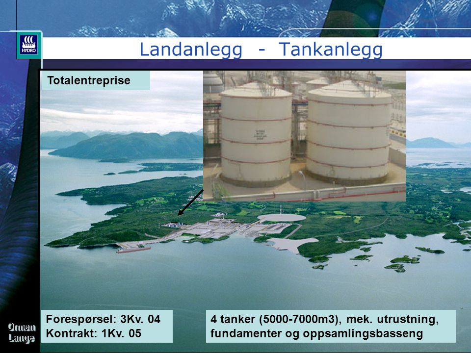 Landanlegg - Tankanlegg