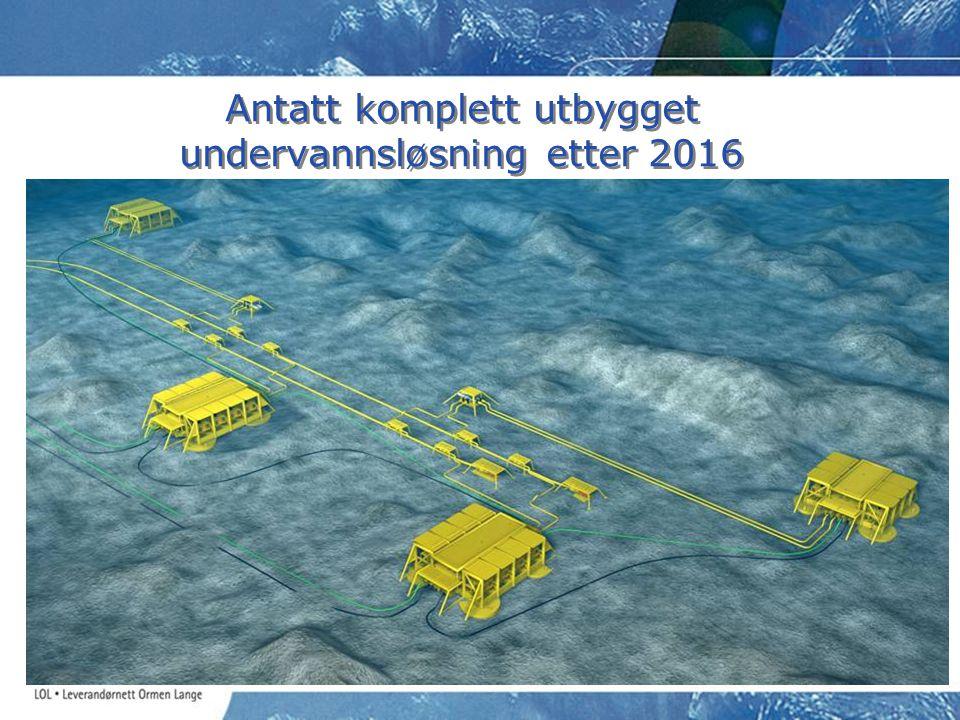 Antatt komplett utbygget undervannsløsning etter 2016