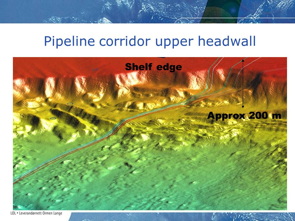 Pipeline corridor upper headwall