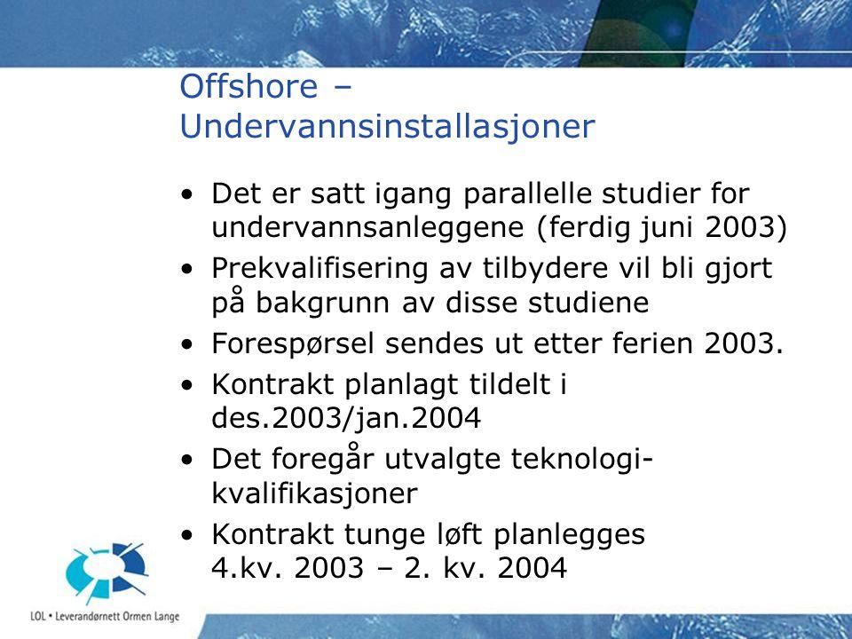 Offshore – Undervannsinstallasjoner
