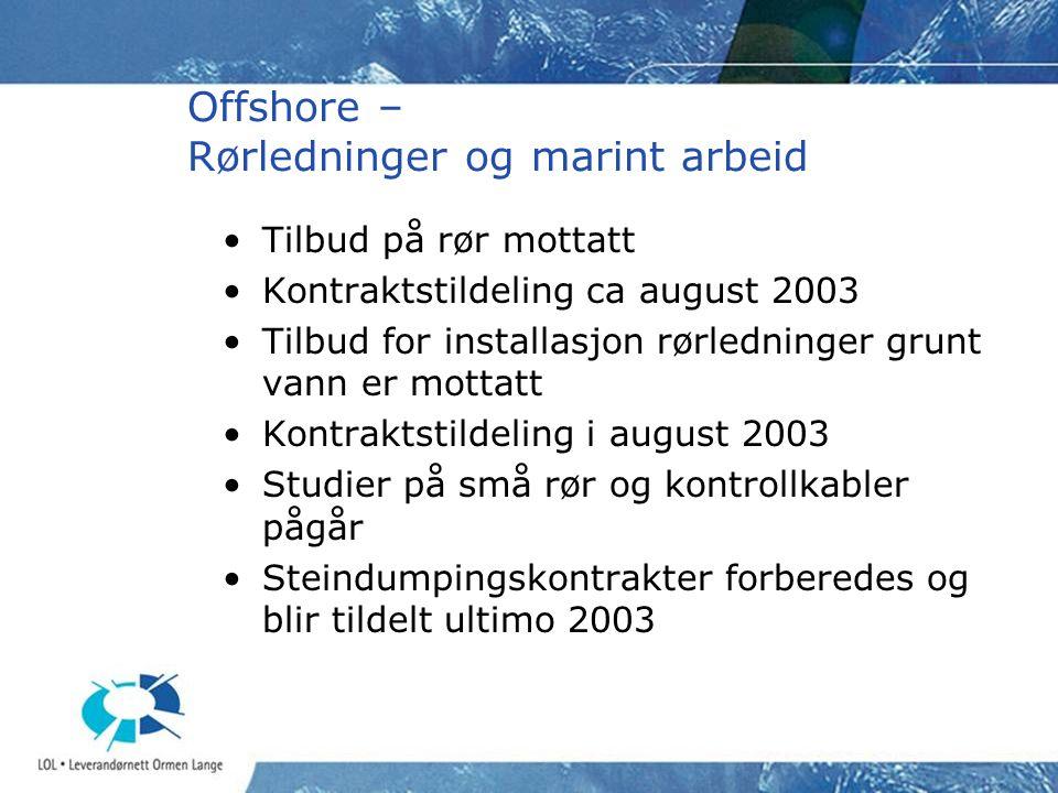 Offshore – Rørledninger og marint arbeid