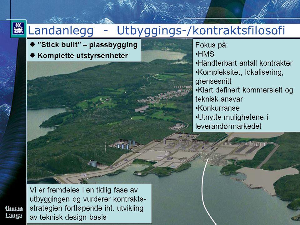 Landanlegg - Utbyggings-/kontraktsfilosofi