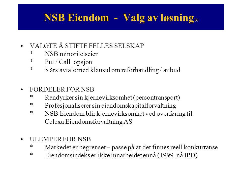 NSB Eiendom - Valg av løsning (2)