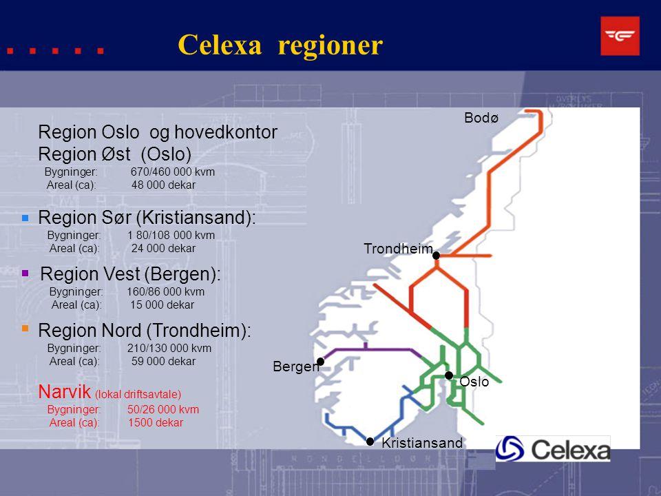 Celexa regioner Region Oslo og hovedkontor Region Øst (Oslo)