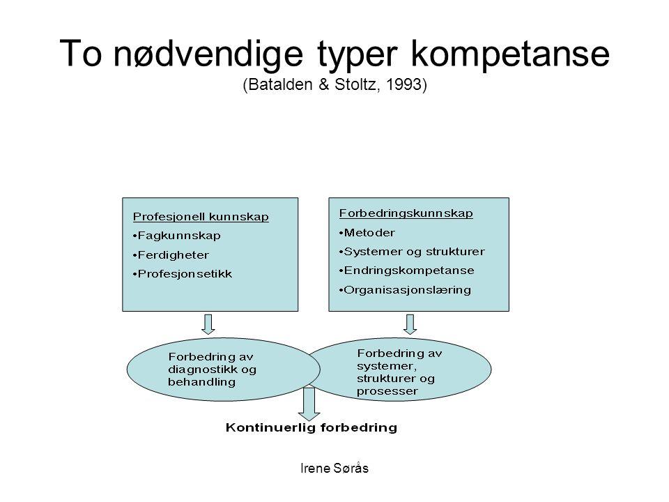 To nødvendige typer kompetanse (Batalden & Stoltz, 1993)