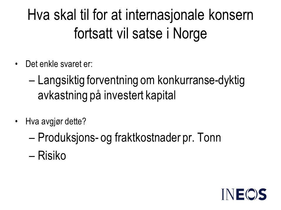Hva skal til for at internasjonale konsern fortsatt vil satse i Norge