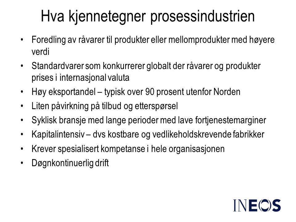 Hva kjennetegner prosessindustrien