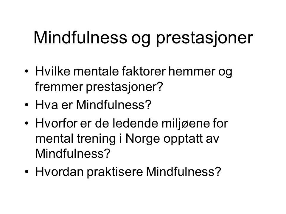 Mindfulness og prestasjoner