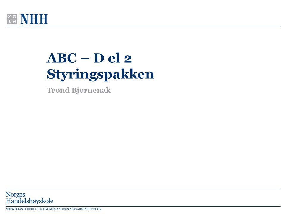ABC – D el 2 Styringspakken