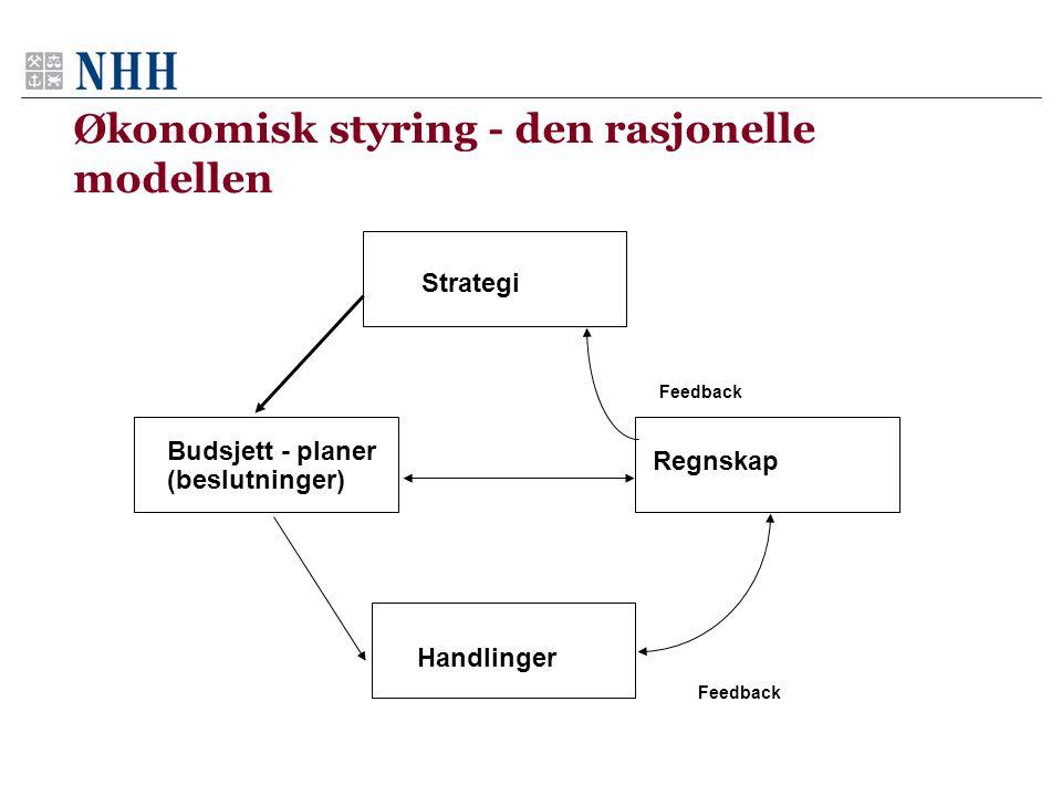 Økonomisk styring - den rasjonelle modellen