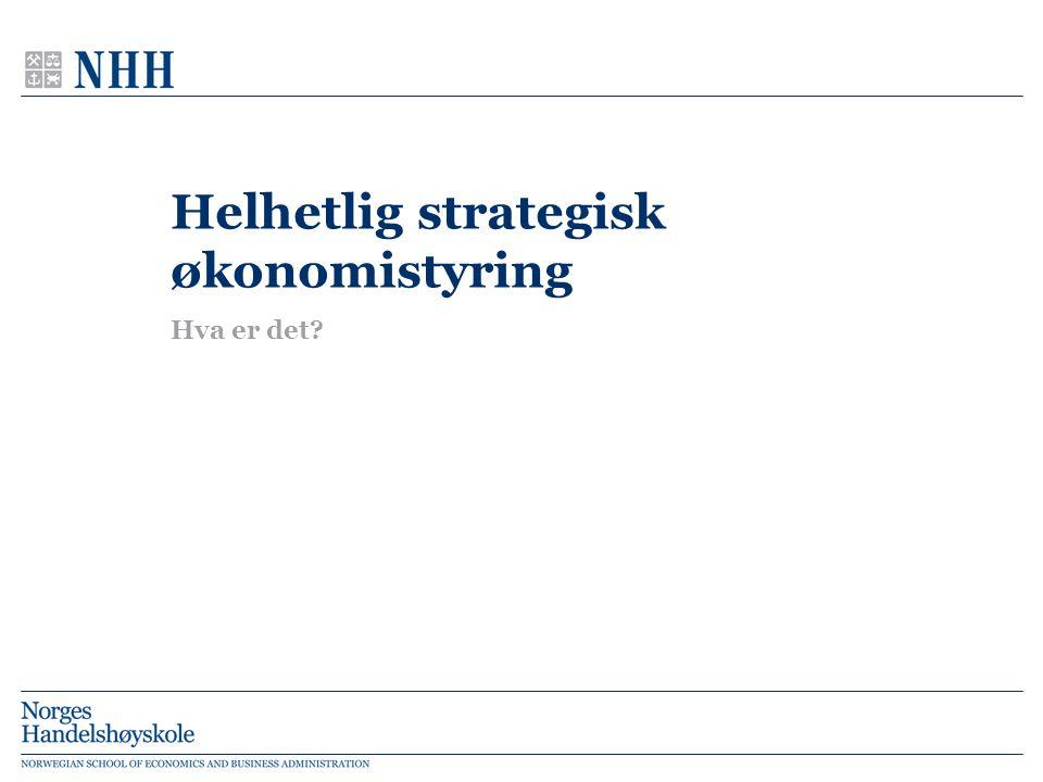 Helhetlig strategisk økonomistyring