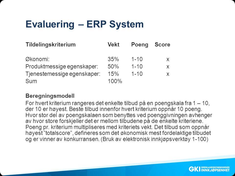 Evaluering – ERP System