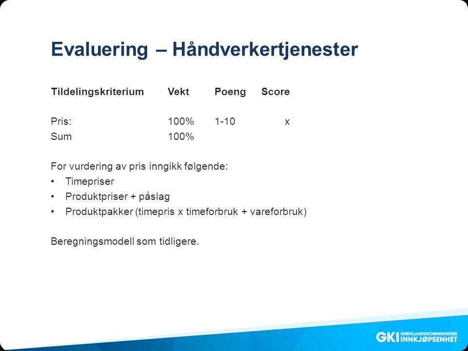 Evaluering – Håndverkertjenester