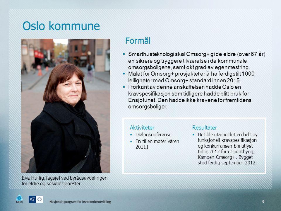 Oslo kommune Formål.