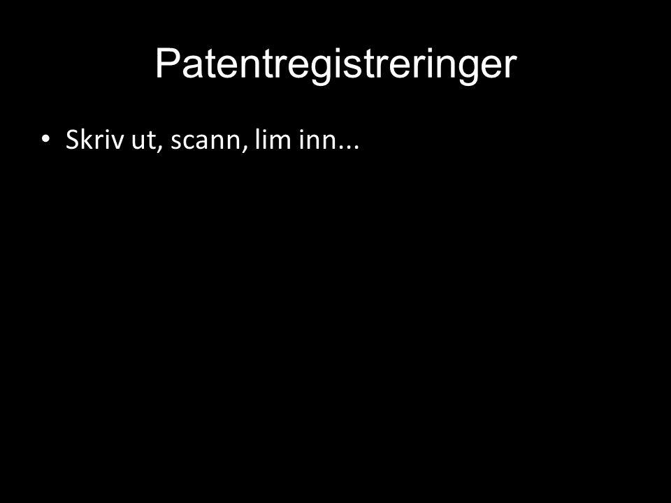 Patentregistreringer