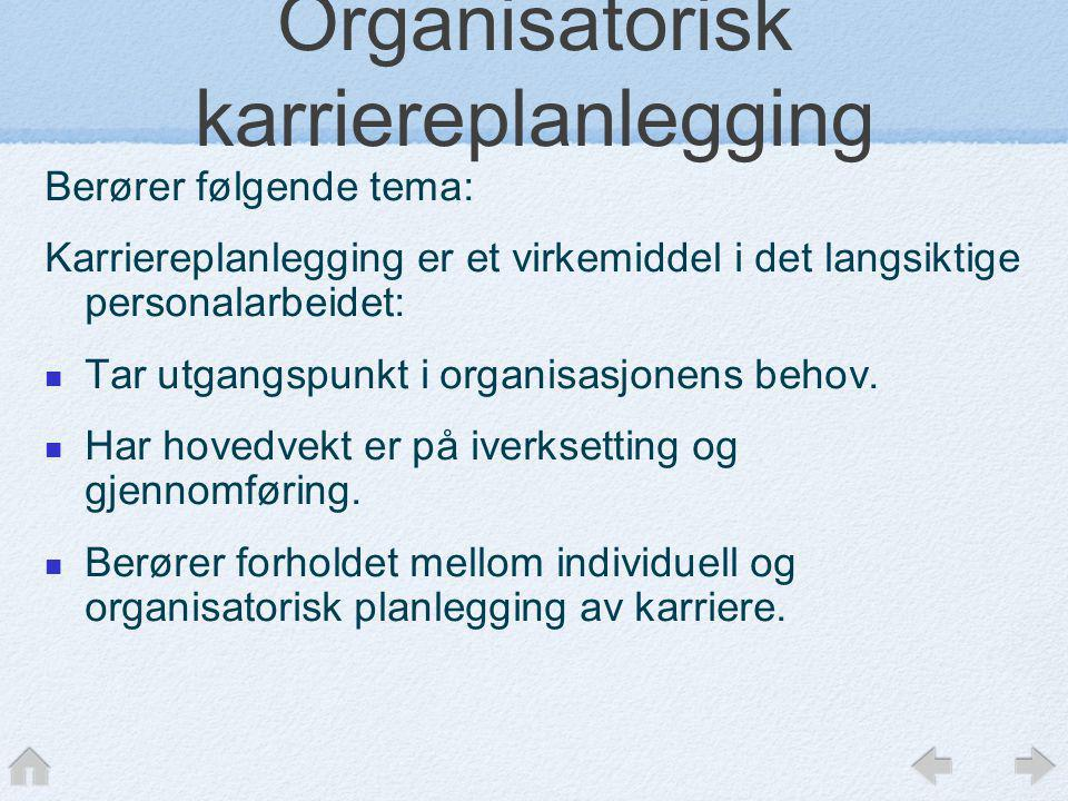 Organisatorisk karriereplanlegging