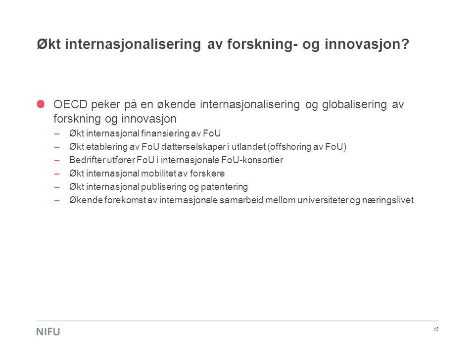 Økt internasjonalisering av forskning- og innovasjon