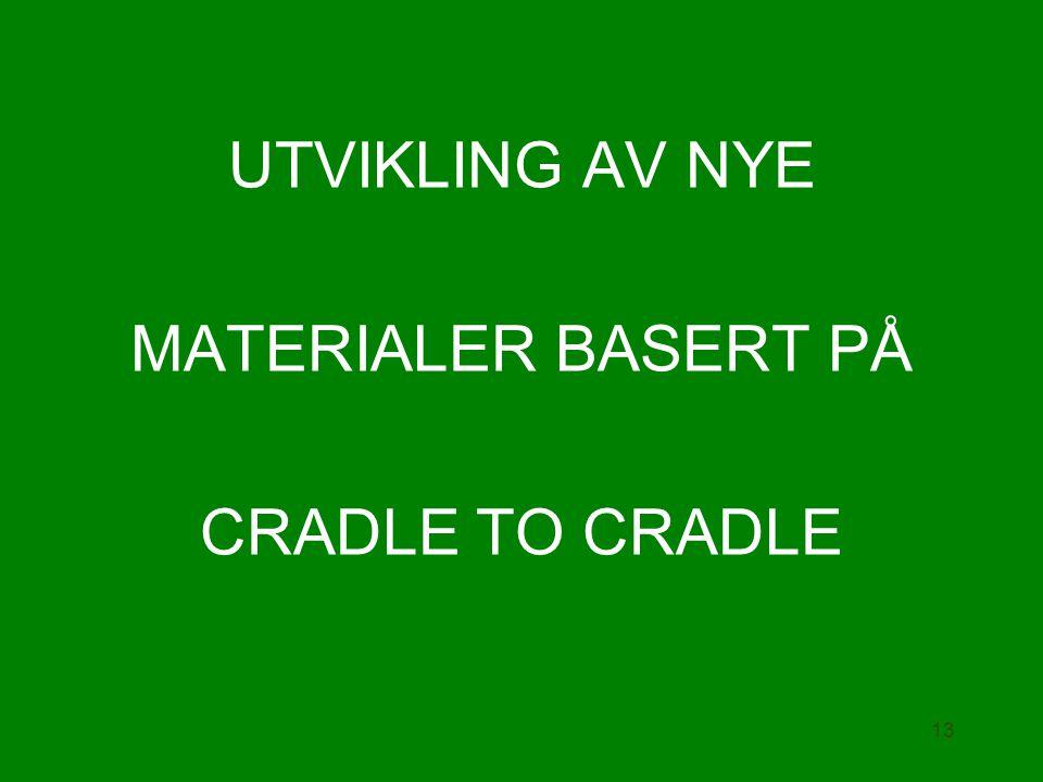 UTVIKLING AV NYE MATERIALER BASERT PÅ CRADLE TO CRADLE