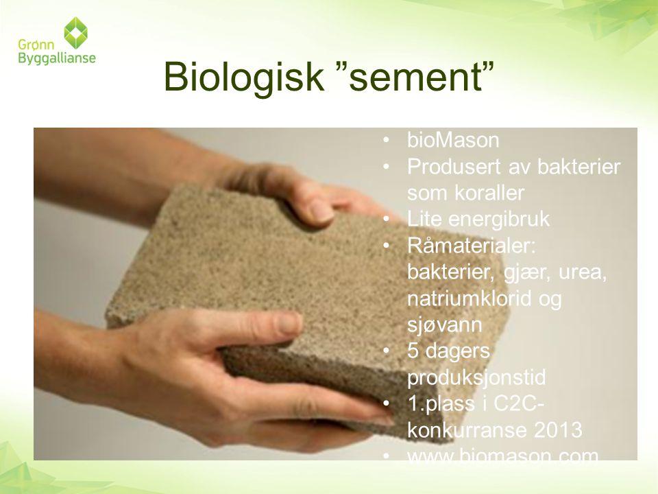 Biologisk sement bioMason Produsert av bakterier som koraller