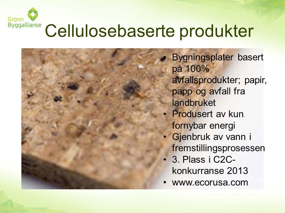 Cellulosebaserte produkter