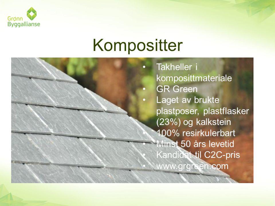 Kompositter Takheller i komposittmateriale GR Green