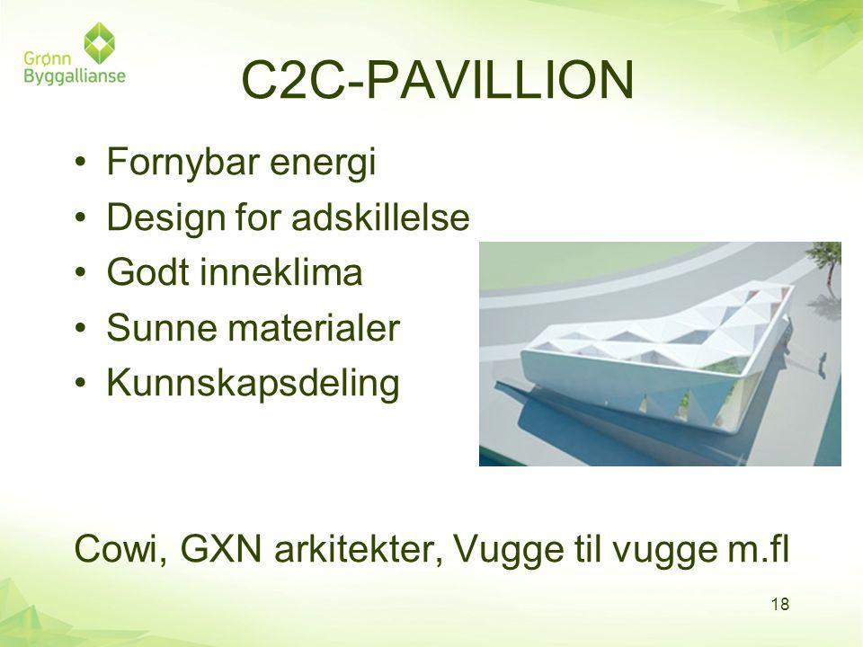 C2C-PAVILLION Fornybar energi Design for adskillelse Godt inneklima