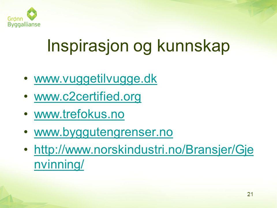 Inspirasjon og kunnskap
