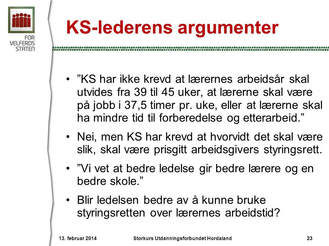 KS-lederens argumenter