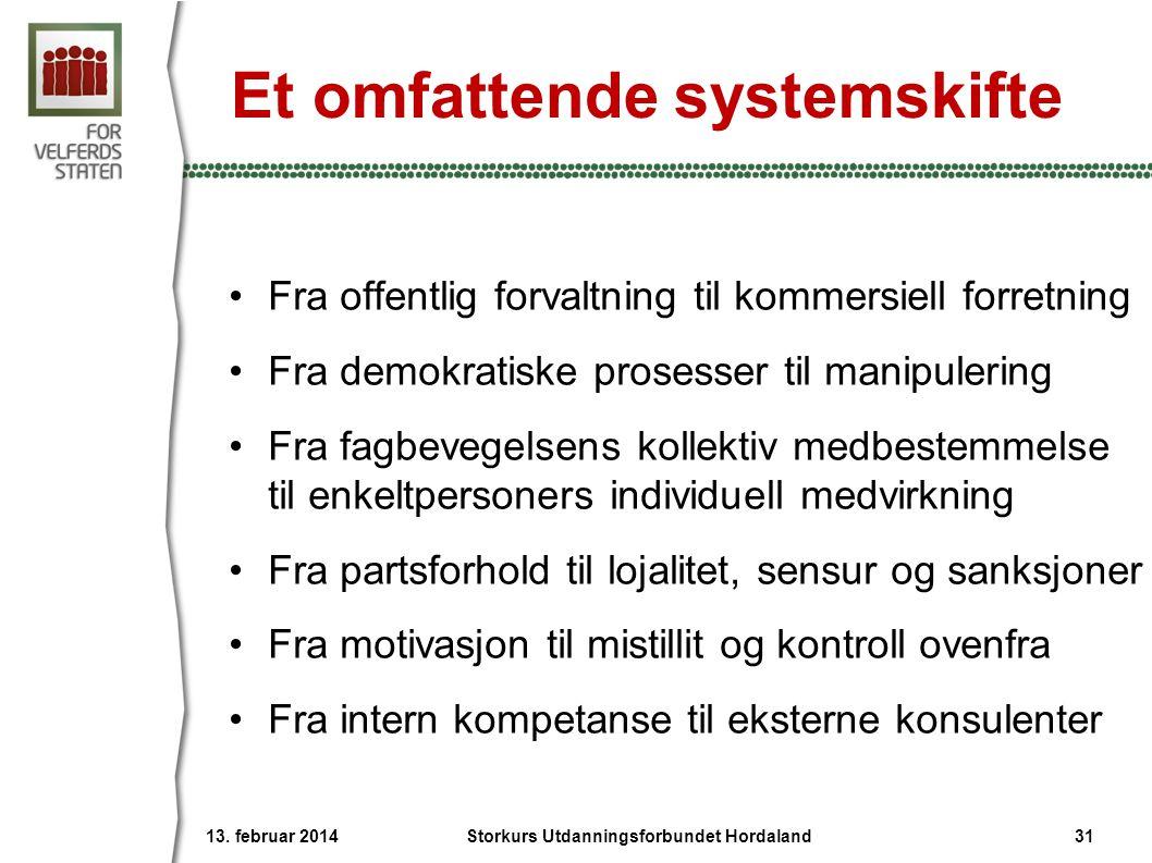 Et omfattende systemskifte