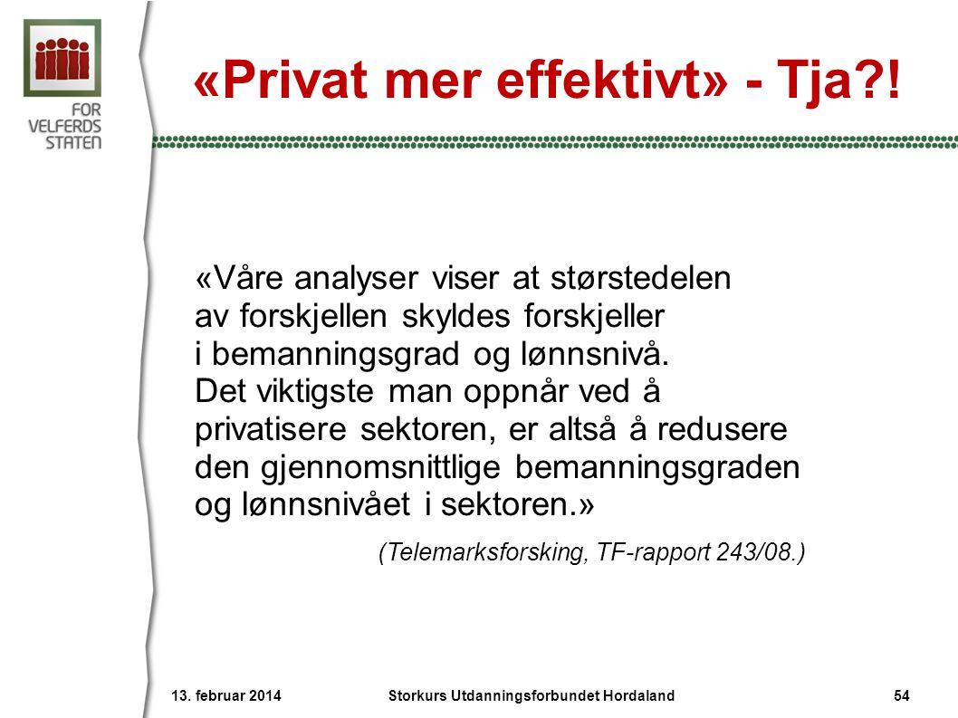 «Privat mer effektivt» - Tja !