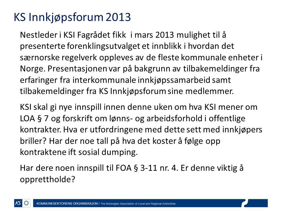 KS Innkjøpsforum 2013
