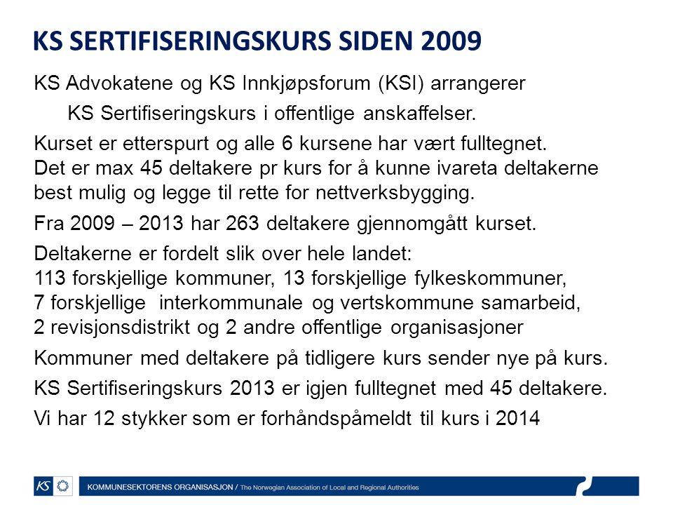 KS SERTIFISERINGSKURS SIDEN 2009