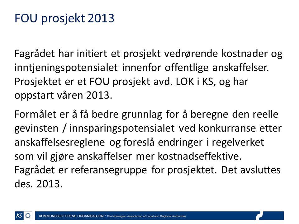 FOU prosjekt 2013