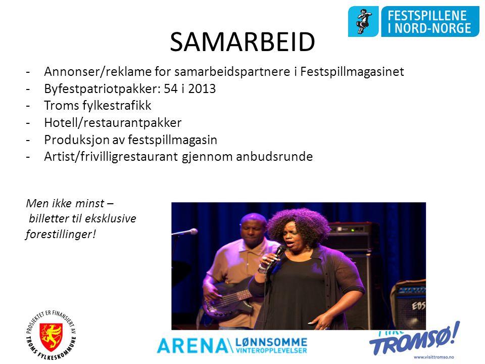 SAMARBEID Annonser/reklame for samarbeidspartnere i Festspillmagasinet