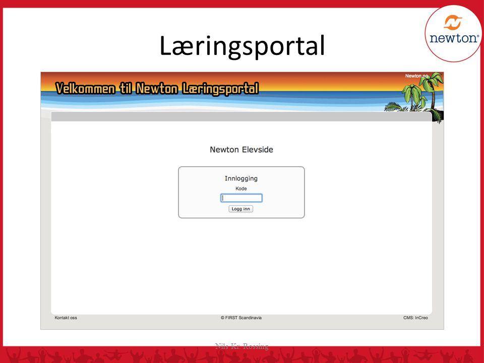 Læringsportal Rapporten føres inn i Newton Læringsportal hvor hvert landslag har egen innlogg.