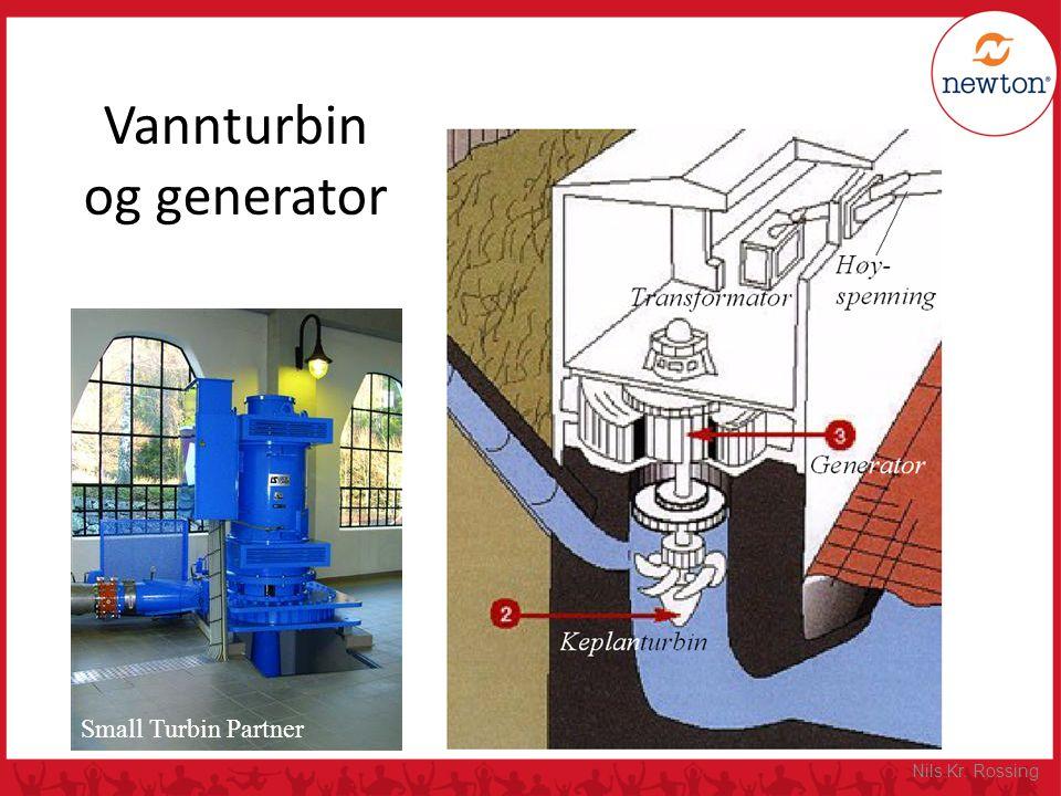 Vannturbin og generator