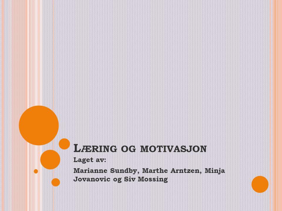 Læring og motivasjon Laget av: