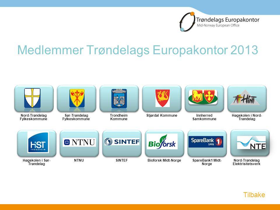 Medlemmer Trøndelags Europakontor 2013