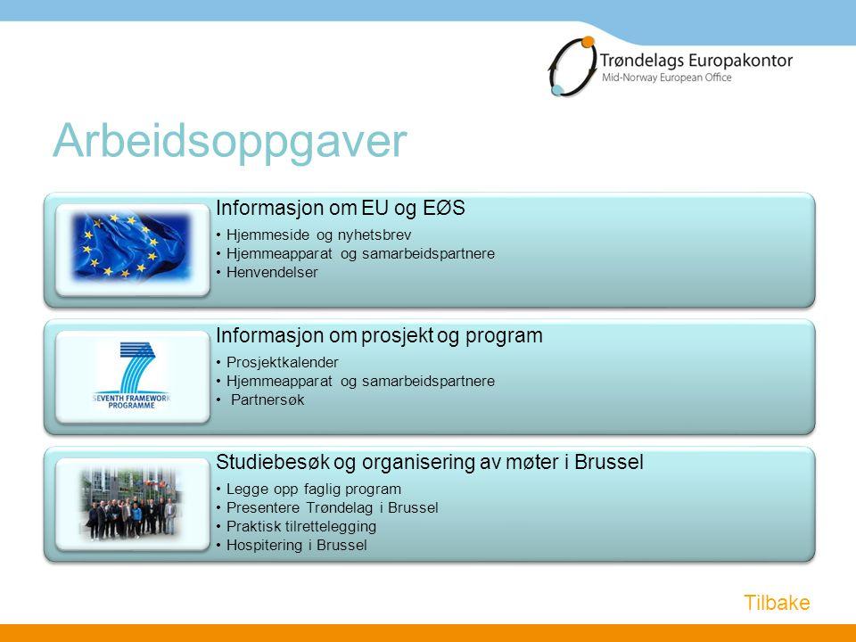 Arbeidsoppgaver Tilbake Informasjon om EU og EØS